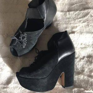 Topshop Platform Shoes, Size 38